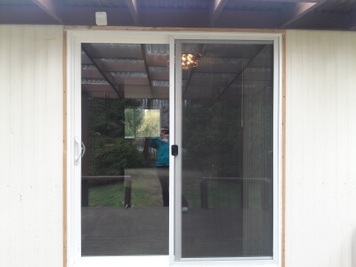 Sliding doors installed