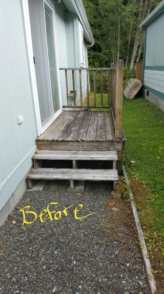 Deck and railing before