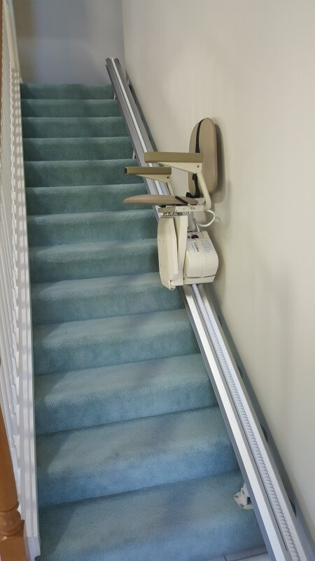 Stair Lift installed to make life easier for aging in place